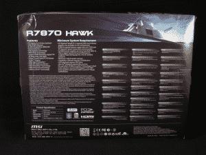MSI R7870 HAWK Retail packaging - Rear
