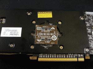 GPU Reactor - Cover off, board still plugged in