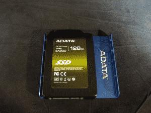 "128GB Adata XPG SX900 (Mounted on 2.5"" to 3.5"" adapter)"