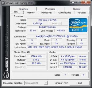 Eleet 1.10.1 - CPU tab