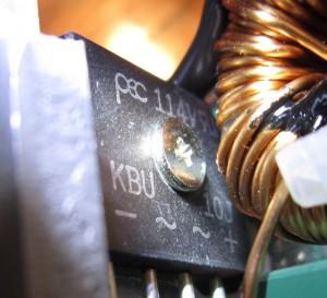 The rectifier, a KBU-10J.
