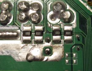 Current sense resistors for OCP