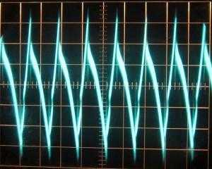 12 V full unit load ripple, cold, ~78 mV.