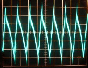 12 V full unit load ripple, hot, ~75 mV.