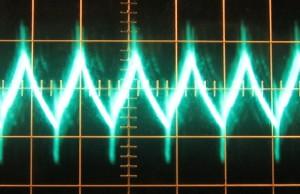 12 V ripple at full load, hot, ~150 mV