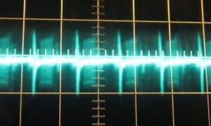 3.3 V ripple at full load, hot, ~90 mV