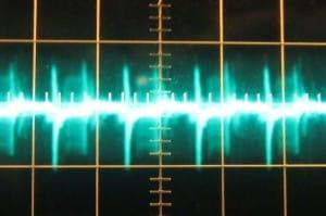 5 V ripple at full load, hot, ~84 mV