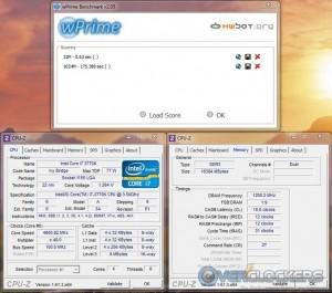 wPrime 32M/1024M Overclocked
