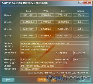 AIDA64 Cache & Memory Benchmark Stock