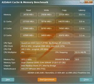 AIDA64 v2.6 - 4.9Ghz