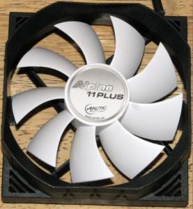 Intake side of fan.