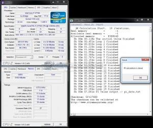 SuperPi 1M @ DDR3-2750 / 1.725V