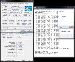 SuperPi 32M @ DDR3-2674 / 1.73V