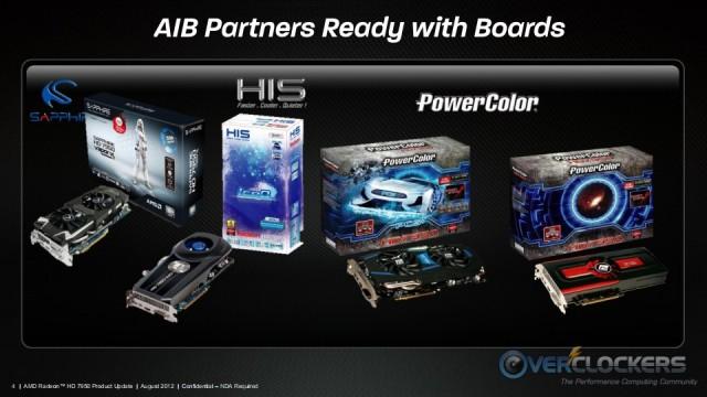 AMD Radeon HD 7950 with Boost AIB Partner Boards