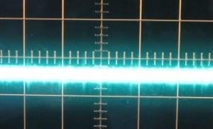3.3 V ripple, zero load, cold. ~10mV