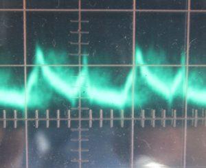 3.3 V ripple, full load, cold, ~17 mV