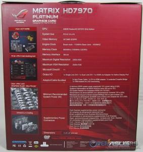 ASUS Matrix HD 7970 Box Rear