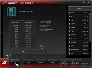 Fan Speed Percentage vs. RPM Range