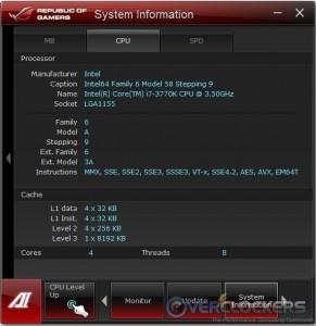 System Information CPU Tab