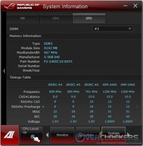 System Information SPD Tab