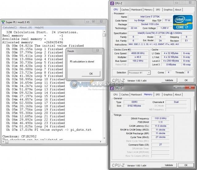 DDR3-2200 @ 11-11-11-27-2T 1.6 vDIMM