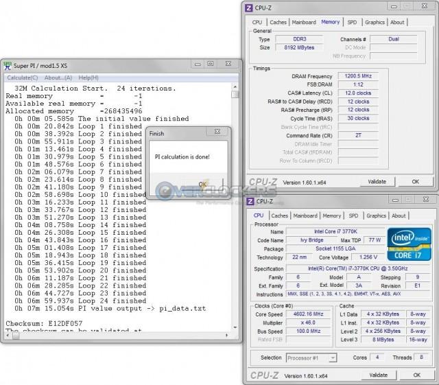 DDR3-2400 @ 12-12-12-30-2T 1.7 vDIMM