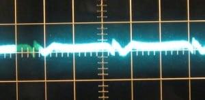 12 V ripple with zero load, cold. ~6mV