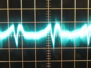 12 V ripple with zero load, cold. ~32mV