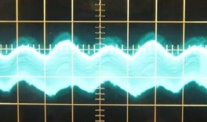 5 V ripple with 12 V crossload, cold. ~24mV