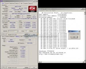 SuperPi 1M - 13.078sec @ 7080 MHz