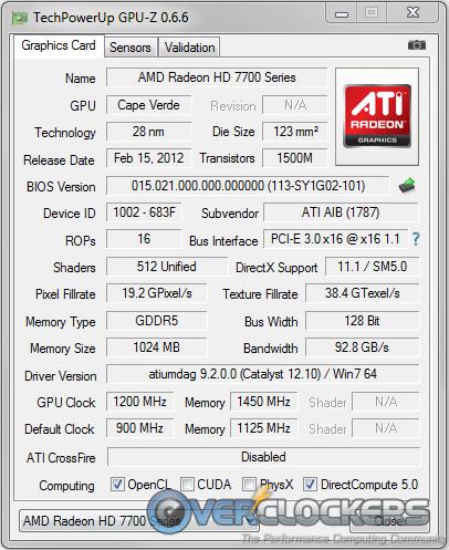 GPU-Z Overclocked