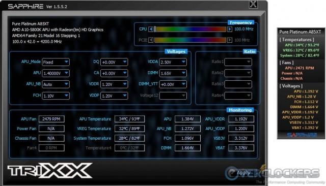 TriXX and Sidebar Gadget