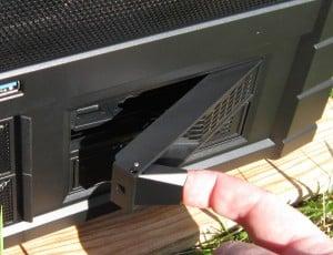 Hotswap doors open easily
