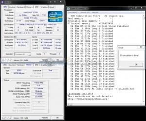 SuperPi 32M @ DDR3-2200 - Stock Timings - 1.65V