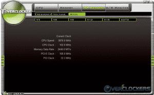 Toverclocker OC Tweaker - Mode Sub-Tab
