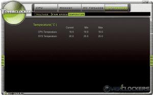 Toverclocker H/W Monitor - Temp Sub-Tab