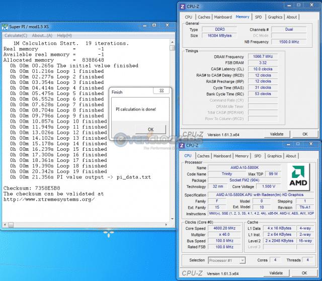 SuperPI 1M @ 4.6 GHz