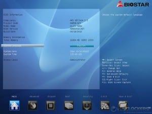 UEFI BIOS Main Screen