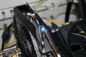 Fan speed LED