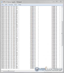 GPU-Z Monitoring While Under Load