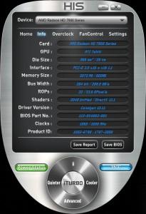 iTurbo - Information screen