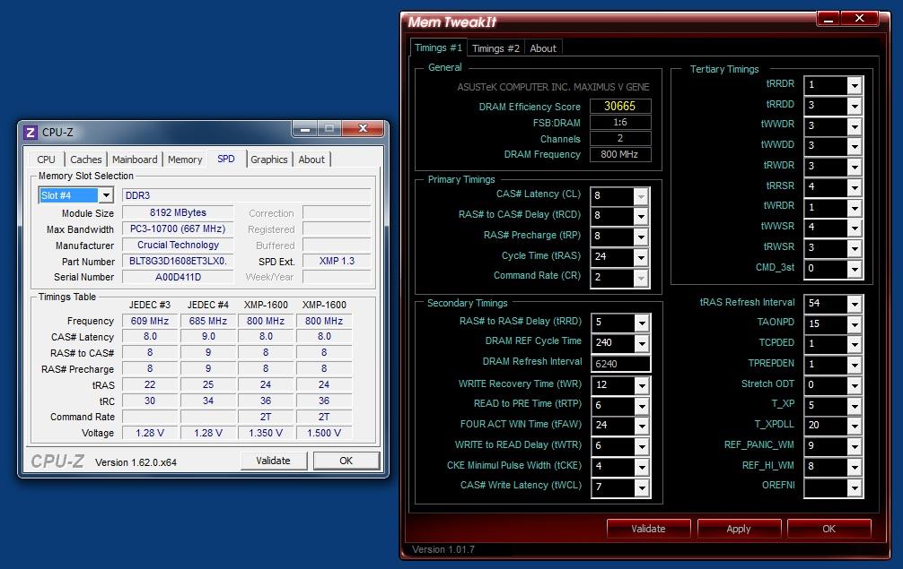 Ballistix Tactical 2x8GB DDR3-1600 SPD