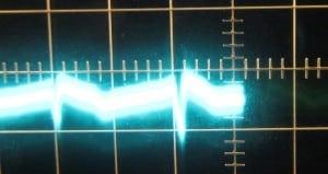 3.3 V Ripple, Zero Load, Cold, Scope at 10 ms / 10 mV, ~18 mV of Ripple