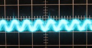 3.3 V Ripple at Zero Load, Cold, 5µs/10mV, ~18mV Ripple.