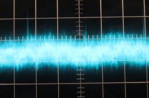 5 V Ripple at Full Load, Cold, 5µs/10mV, ~30mV Ripple.