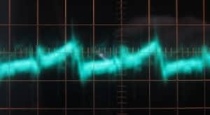 12 V Ripple, hot w/full load, 5 µs / 10 mV, ~64 mV of ripple