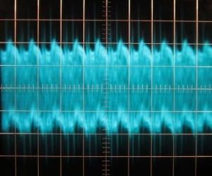 12 V Ripple, cold, full load, scope @ 5 µs / 10 mV, ~72 mV of ripple