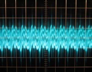 3V3 Ripple, cold, full load, scope @ 5 µs / 10 mV, ~62 mV of ripple