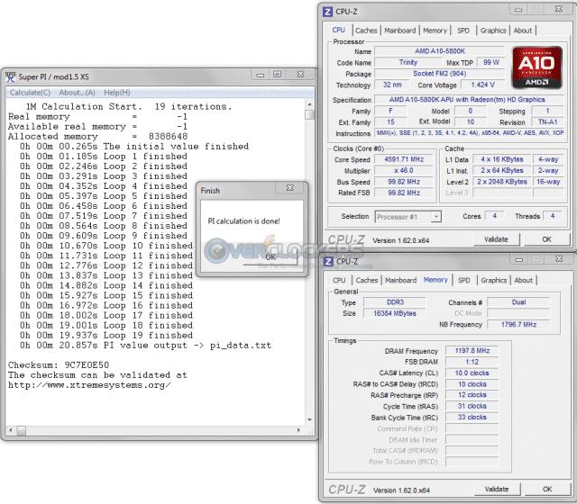 4.6 GHz/2400 MHz SuperPI 1M