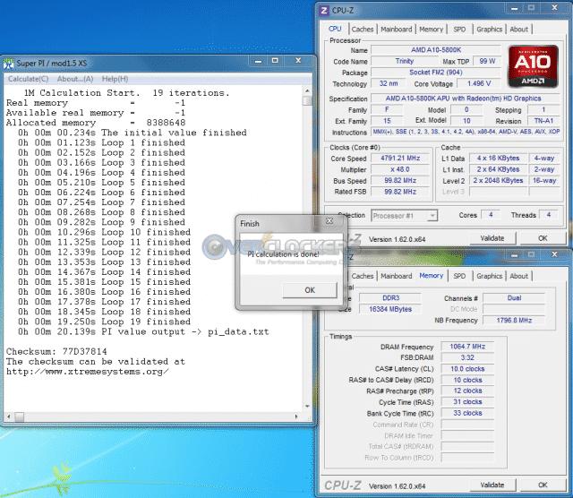 4.8 GHz SuperPi 1M
